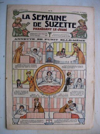 La Semaine de Suzette 9e année n°9 (1913) Annette se punit elle-même - Hommes de Terre Noire (conte Périgourdin)
