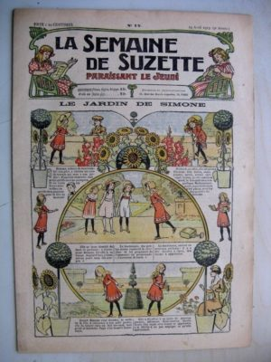 La Semaine de Suzette 9e année n°12 (1913) Le jardin de Simone – L'enfance de Bécassine (12)