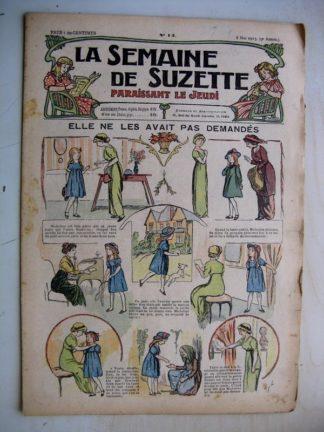La Semaine de Suzette 9e année n°14 (1913) Elle ne les avait pas demandés (Guydo) Bleuette (cols de costume)