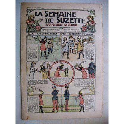 La Semaine de Suzette 9e année n°15 (1913) La victoire de Christiane - Bleuette (tablier à bavette) L'enfance de Bécassine (15)