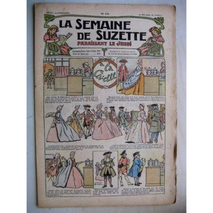 La Semaine de Suzette 9e année n°16 (1913) A la civette (Léonce Burret) L'enfance de Bécassine (16)