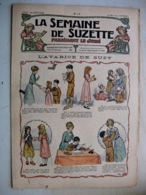 La Semaine de Suzette 9e année n°17 (1913) L'avarice de Suzy – Bleuette (tablier de classe) L'enfance de Bécassine (17)