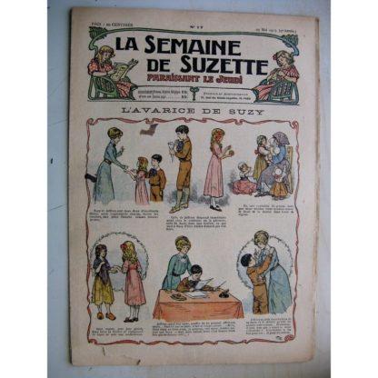 La Semaine de Suzette 9e année n°17 (1913) L'avarice de Suzy - Bleuette (tablier de classe) L'enfance de Bécassine (17)
