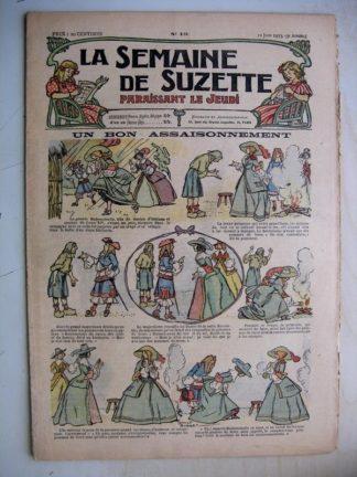 La Semaine de Suzette 9e année n°19 (1913) Un bon assaisonnement (Léonce Burret) Janot Vif argent (Jehan Testevuide)