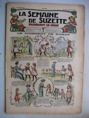 La Semaine de Suzette 9e année n°20 (1913) Le jugement de maman – Bleuette (chapeau d'été)