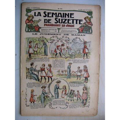 La Semaine de Suzette 9e année n°20 (1913) Le jugement de maman - Bleuette (chapeau d'été)