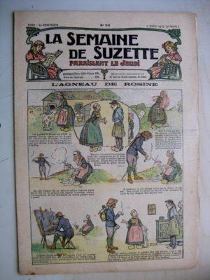 La Semaine de Suzette 9e année n°22(1913) L'agneau de Rosine (Léonce Burret) Bleuette (robe habillée)