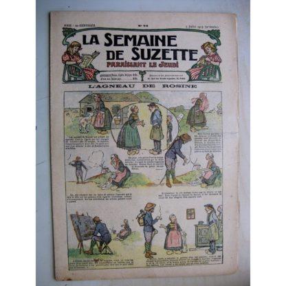 La Semaine de Suzette 9e année n° (1913) L'agneau de Rosine (Léonce Burret) Bleuette (robe habillée)