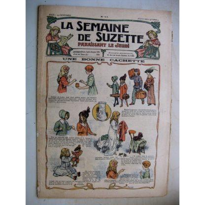 La Semaine de Suzette 9e année n°21 (1913) Une bonne cachette (Herouard) Bleuette (vareuse pour la plage)