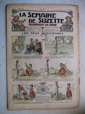 La Semaine de Suzette 9e année n°23 (1913) Les deux musiciennes (Guydo) Bleuette (costume de pêcheuse 1)