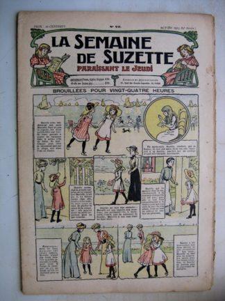 La Semaine de Suzette 9e année n°25 (1913) Broullée pour vingt quatre heures - Bleuette (costume de tennis)