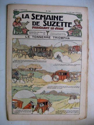 La Semaine de Suzette 9e année n°26 (1913) Le tonnerre triompha - Flagrant délit de mensonge (Jehan Testevuide)