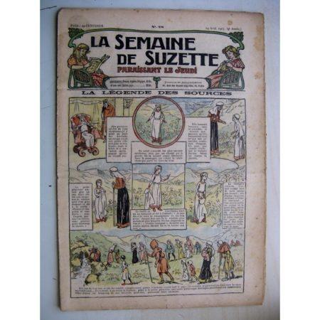 La Semaine de Suzette 9e année n°28 (1913) La légende des sources d'Auvergne - L'enfance de Bécassine (28)