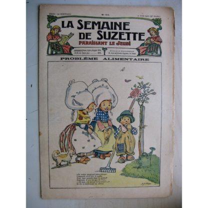 La Semaine de Suzette 9e année n°29 (1913) Problème alimentaire (Kate Fricero) Bleuette (Costume de bains de mer)