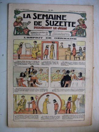 La Semaine de Suzette 9e année n°31 (1913) L'esprit de Germaine - Bleuette (Jaquette Kimono)