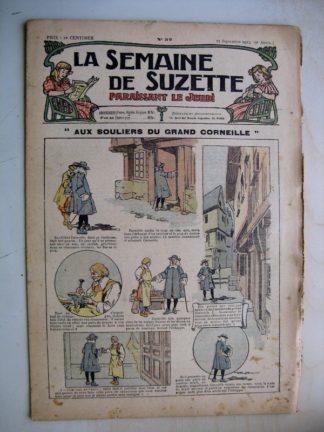 La Semaine de Suzette 9e année n°32 (1913) Aux souliers du grand Corneille - Bleuette (manteau long) Zézette (Kate Fricero)
