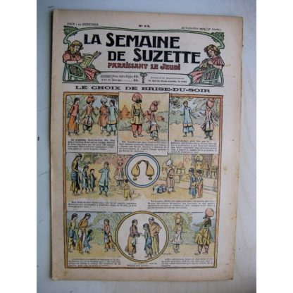 La Semaine de Suzette 9e année n°34 (1913) Le choix de Brise du Soir - Cortège d'automne (Léonce Burret)