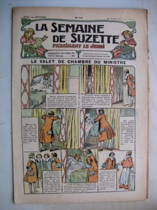 La Semaine de Suzette 9e année n°39 (1913) Le valet de chambre du ministre Mazarin - Bleuette (robe de chambre)