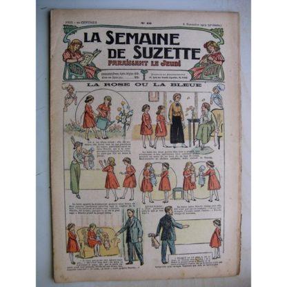 La Semaine de Suzette 9e année n°40 (1913) La poupée rose ou la bleue - Miette la fille au loup (Henri de Sta)