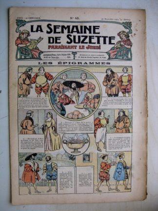 La Semaine de Suzette 9e année n°43 (1913) Les épigrammes de François 1er - Bleuette (chemise de jour)
