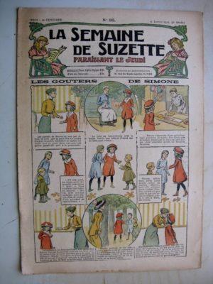 La Semaine de Suzette 9e année n°50 (1914) Les gouters de Simone - La poupée vivante (Lajarrige) Bleuette (robe de dessous)
