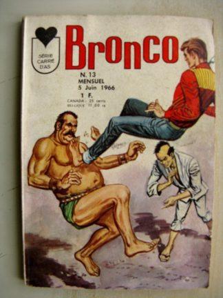 BRONCO N°13 VIKING (Drame dans la forêt) JED PUMA (Le masacre des bisons) Série carré d'As LUG 1966