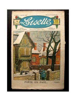LISETTE n°233 (27 DECEMBRE 1925) PORTE EN FACE