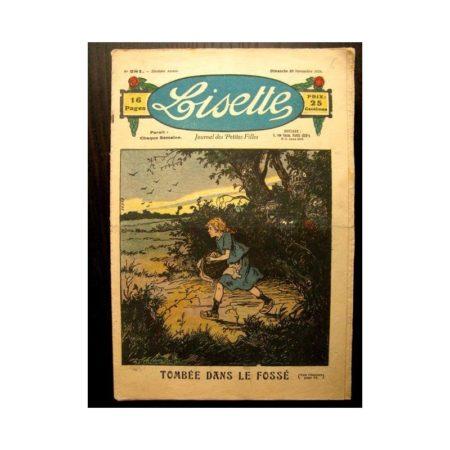 LISETTE n°281 (28 NOVEMBRE 1926) TOMBEE DANS LE FOSSE