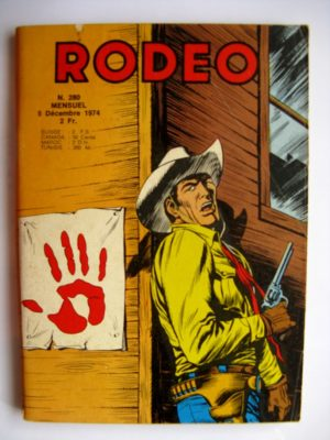 RODEO N°280 TEX WILLER – AVENTURE SUR LE RIO GRANDE (fin) – LA MAIN ROUGE