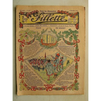 FILLETTE N°561 (8 décembre 1918) Fille de soldat (André Galland)