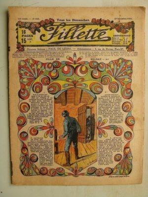 FILLETTE (SPE) N°560 (1er décembre 1918) Fille de soldat (suite) (André Galland) La corbeille de gâteaux (Léon Roze) Harry Gonel