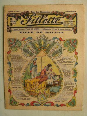 FILLETTE (SPE) N°563 (22 décembre 1918) Fille de soldat (Paul Darcy - André Galland) Le parachute de Riquet (Dam Georges Damour)