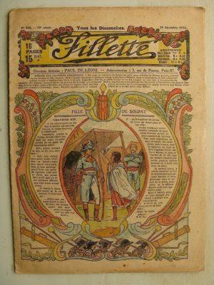 FILLETTE (SPE) N°564 (29 décembre 1918) Fille de soldat (Paul Darcy - André Galland) Pierrette l'orpheline (Jacques Rinet)