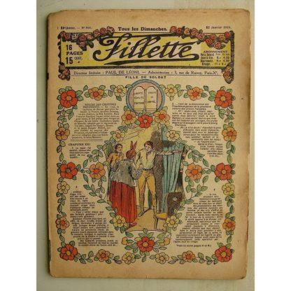 FILLETTE (SPE) N°566 (12 janvier 1919) Fille de soldat (Paul Darcy - André Galland) La pipe du père François (M. Mercey) La lou