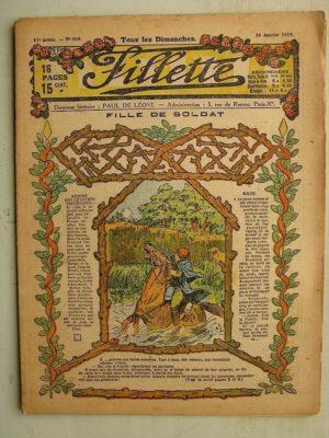FILLETTE (SPE) N°568 (26 janvier 1919) Fille de soldat (Paul Darcy – André Galland) Azor et Rusé (Louis Forton) Harry Gonel