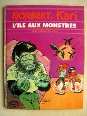 Norbert et Kari Tome 3 L'île aux monstres (Godard) BD Hachette 1975 – Edition Originale (EO)