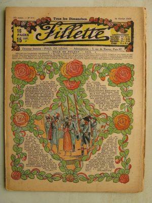 FILLETTE (SPE) N°571 (16 février 1919) Fille de soldat (André Galland – Paul Darcy) Le château de Suzanne (Maxime de Méria)