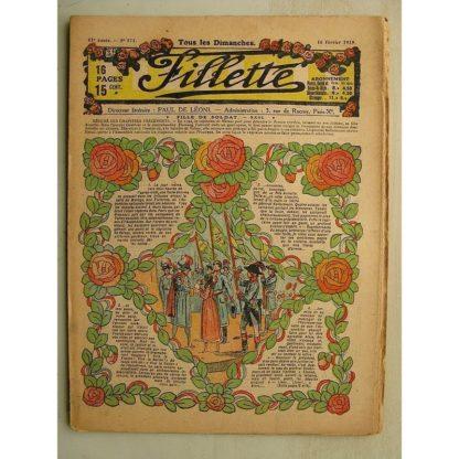 FILLETTE (SPE) N°571 (16 février 1919) Fille de soldat (André Galland - Paul Darcy) Le château de Suzanne (Maxime de Méria)