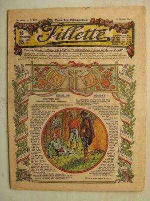 FILLETTE (SPE) N°570 (9 février 1919) Fille de soldat (André Galland – Paul Darcy) L'oeuf merveilleux (Paul Augros) Harry Gonel