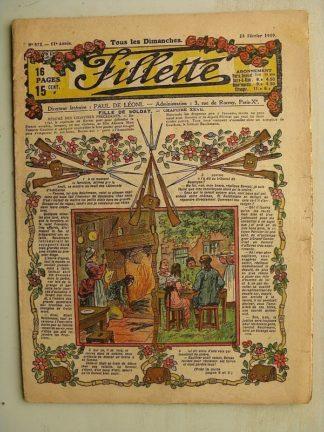FILLETTE (SPE) N°572 (23 février 1919) Fille de soldat (André Galland - Paul Darcy) La bombe 1854 (B. Hatt) Harry Gonel