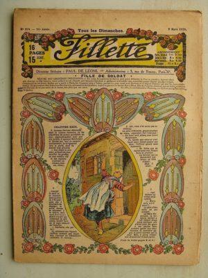 FILLETTE (SPE) N°574 (9 mars 1919) Fille de soldat (André Galland – Paul Darcy) Une superbe cure (B. Hatt) Harry Gonel