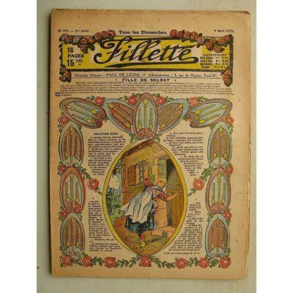 FILLETTE (SPE) N°574 (9 mars 1919) Fille de soldat (André Galland - Paul Darcy) Une superbe cure (B. Hatt) Harry Gonel