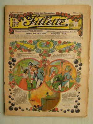 FILLETTE (SPE) N°575 (16 mars 1919) Fille de soldat (André Galland – Paul Darcy) Le petit bouquet de jasmin (Léon Roze)