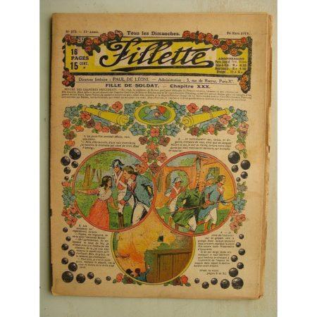 FILLETTE (SPE) N°575 (16 mars 1919) Fille de soldat (André Galland - Paul Darcy) Le petit bouquet de jasmin (Léon Roze)