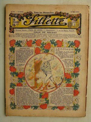 FILLETTE (SPE) N°576 (23 mars 1919) Fille de soldat (André Galland – Paul Darcy) Démonstration sensationnelle (Louis Forton)