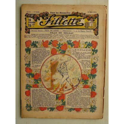 FILLETTE (SPE) N°576 (23 mars 1919) Fille de soldat (André Galland - Paul Darcy) Démonstration sensationnelle (Louis Forton)