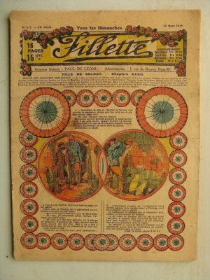 FILLETTE (SPE) N°577 (30 mars 1919) Fille de soldat (André Galland – Paul Darcy) Le petit bouquet de jasmin (Léon Roze)