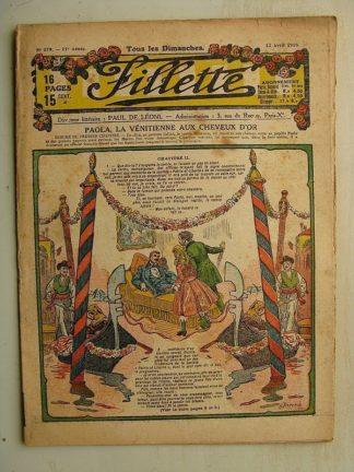 FILLETTE (SPE) N°579 (13 avril 1919) Paola la Vénitienne aux cheveux d'or (Janko - P. salmon) Citron et Coquenpate (Paul Augros)