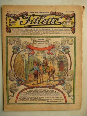 FILLETTE (SPE) N°580 (20 avril 1919) Paola la Vénitienne aux cheveux d'or (Janko – P. Salmon) Toto trouve un truc (B. Hatt)