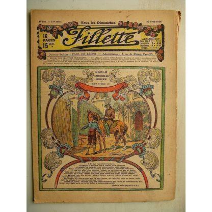 FILLETTE (SPE) N°580 (20 avril 1919) Paola, la Vénitienne aux cheveux d'or (Janko - P. Salmon) Toto trouve un truc (B. Hatt)
